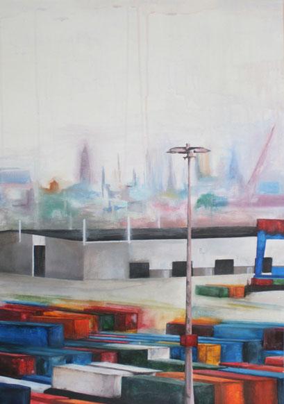 HH I, 2010, Acryl auf Leinwand, 60 x 80 cm