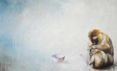 Instinkt, 2012, Acryl auf Leinwand, 240 x 150 cm