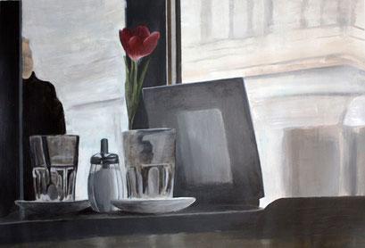 MorgenrotBerlin, 2010, Acryl auf Leinwand, 70 x 40 cm