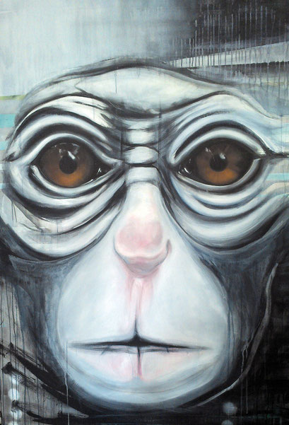 ICH.DU.ER.SIE.ES.WIR.IHR.SIE, 2014,  Acryl auf Leinwand, 110 x 160 cm