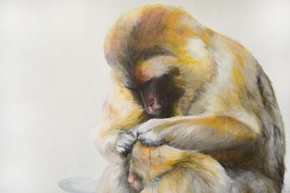 Ausschnitt aus Instinkt, 2012, Acryl auf Leinwand, 240 x 150 cm