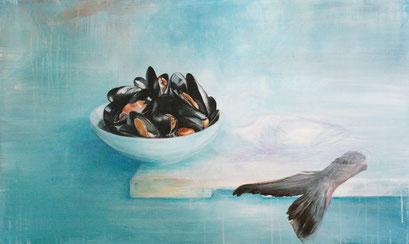 Versöhnung, 2014,  Acryl auf Leinwand, 90 x 60 cm