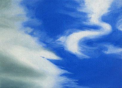 <b>Wolkenlandschaft 7</b><br>Öl/Malkarton | 2009 | 13 x 18 cm<br><small>(Privatbesitz)