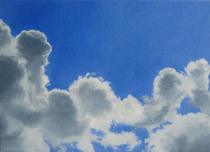 <b>Wolkenlandschaft 30</b><br>Öl/Malkarton | 2009 | 13 x 18 cm<br><small>(Privatbesitz)
