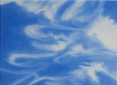 <b>Wolkenlandschaft 41</b><br>Öl/Malkarton | 2009 | 13 x 18 cm