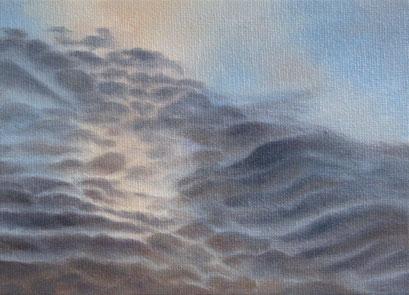 <b>Wolkenlandschaft 36</b><br>Öl/Malkarton | 2009 | 13 x 18 cm