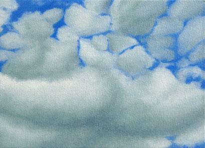 <b>Wolkenlandschaft 24</b><br>Öl/Malkarton | 2009 | 13 x 18 cm