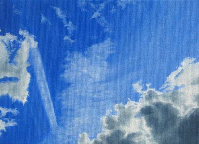 <b>Wolkenlandschaft 29</b><br>Öl/Malkarton | 2009 | 13 x 18 cm<br><small>(Privatbesitz)