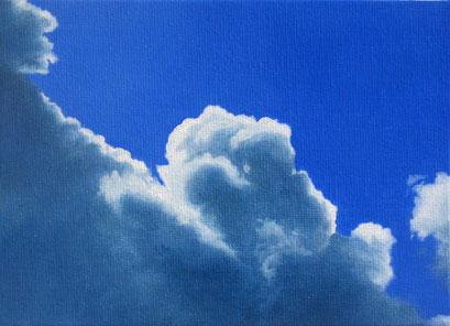 <b>Wolkenlandschaft 16</b><br>Öl/Malkarton | 2009 | 13 x 18 cm