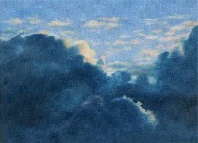<b>Wolkenlandschaft 2</b><br>Öl/Malkarton | 2009 | 13 x 18 cm<br><small>(Privatbesitz)