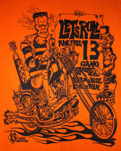 Franken Chopper Tee(Orange)/フランケンチョッパー オレンジTシャツ