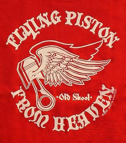 FLYING PISTON Tee(Red)/フライングピストンTシャツ赤