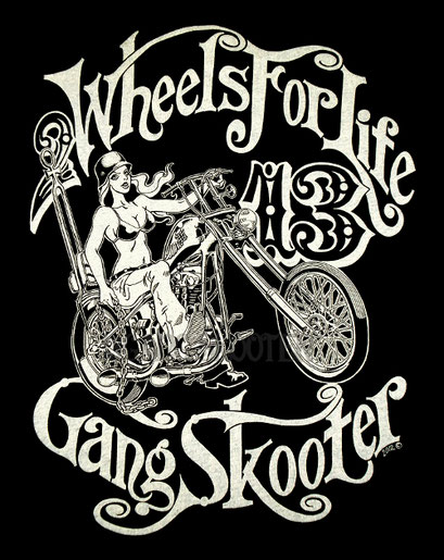 KnuckleHead Chopper Tee/レディバイカーTシャツ
