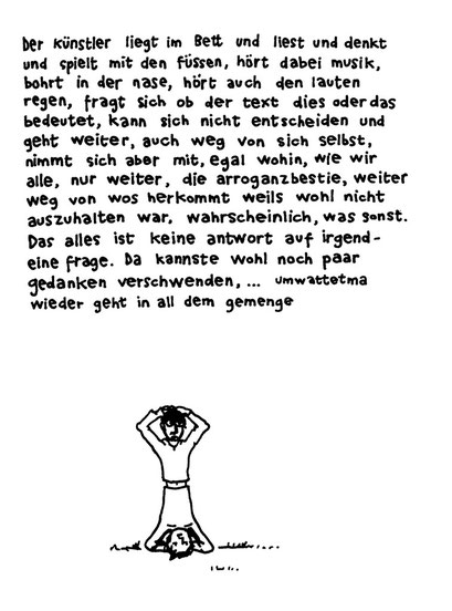 kunst der arroganz, arbeitsbegleitende gedankenskizze, copyright chantal labinski 2013