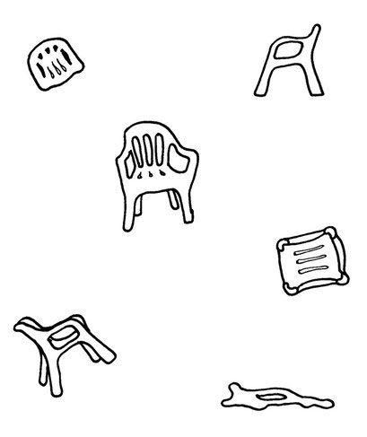 monoblok, arbeitsbegleitende gedankenskizze, copyright chantal labinski 2013