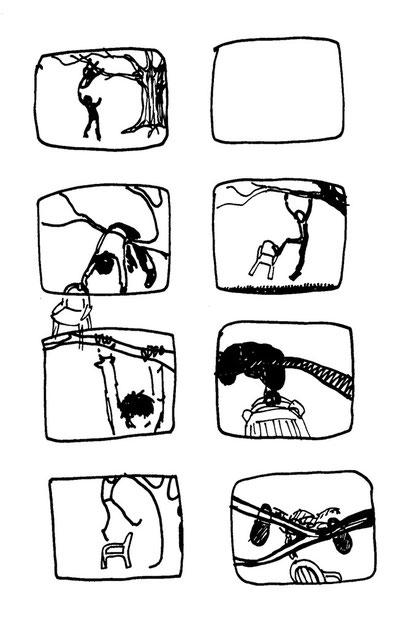storyboard, arbeitsbegleitende gedankenskizze, copyright chantal labinski 2013