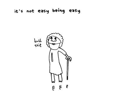 bullshit, being easy IS very easy, arbeitsbegleitende gedankenskizze, copyright chantal labinski 2013