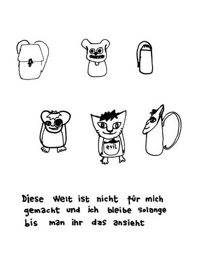 evil, arbeitsbegleitende gedankenskizze, copyright chantal labinski 2013