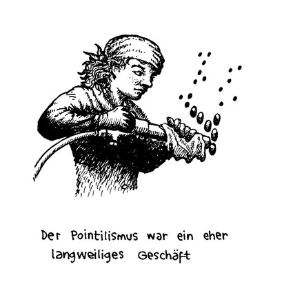 pointilism is a boring business, arbeitsbegleitende gedankenskizze, copyright chantal labinski 2013