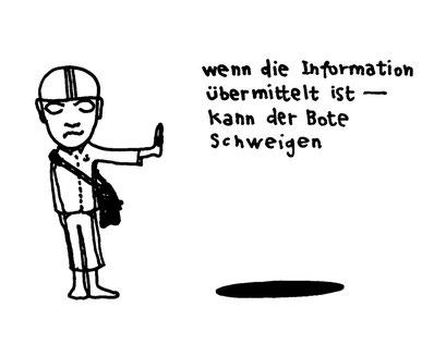 der bote, arbeitsbegleitende gedankenskizze, copyright chantal labinski 2013