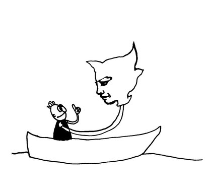 boatshow, arbeitsbegleitende gedankenskizze, copyright chantal labinski 2013