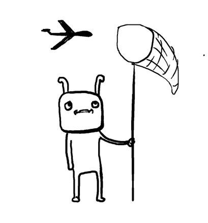 drone catcher, arbeitsbegleitende gedankenskizze, copyright chantal labinski 2013