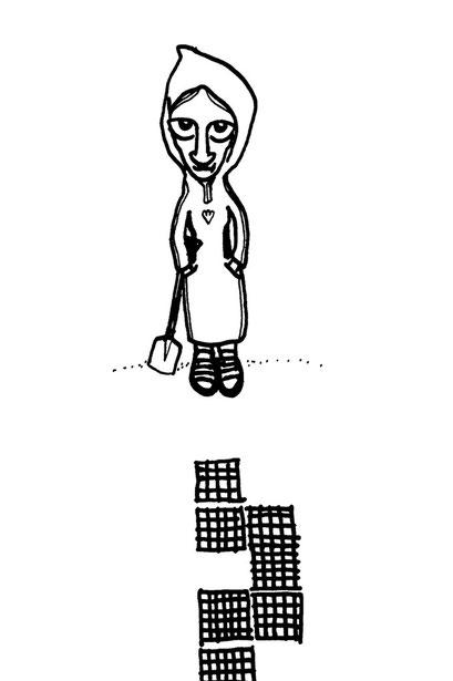 grr- girl, arbeitsbegleitende gedankenskizze, copyright chantal labinski 2013