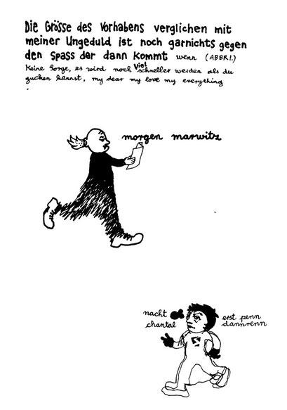 ungedult, arbeitsbegleitende gedankenskizze, copyright chantal labinski 2013