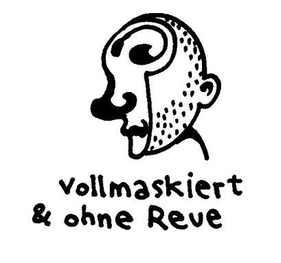 vollmaskiert und ohne reue, full mask no regrets, arbeitsbegleitende gedankenskizze, copyright chantal labinski 2013