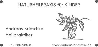 Praxisschild für Andreas Brieschke, Berlin