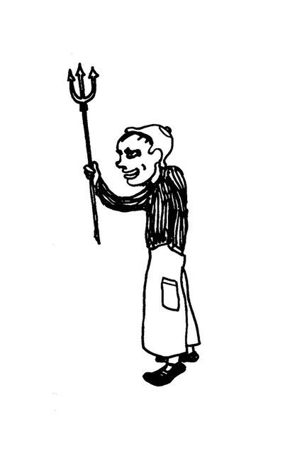 arbeiter sich aufregend,  arbeitsbegleitende gedankenskizze, copyright chantal labinski 2013