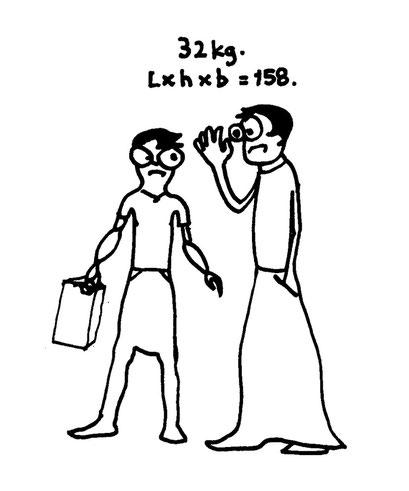 luggage, arbeitsbegleitende gedankenskizze, copyright chantal labinski 2013