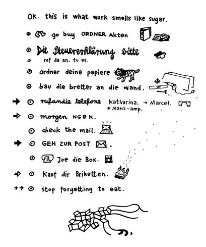 liste, arbeitsbegleitende gedankenskizze, copyright chantal labinski 2013