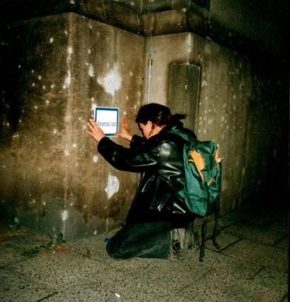 universal loch, berlin, autonome beschilderung, 1998, copyright chantal labinski and marcel hager