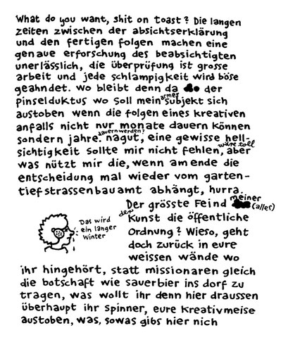sauerbier, shit on toast, arbeitsbegleitende gedankenskizze, copyright chantal labinski 2013