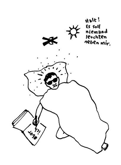 niemand soll leuchten neben mir, arbeitsbegleitende gedankenskizze, copyright chantal labinski 2013