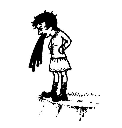vomit girl, arbeitsbegleitende gedankenskizze, copyright chantal labinski 2013