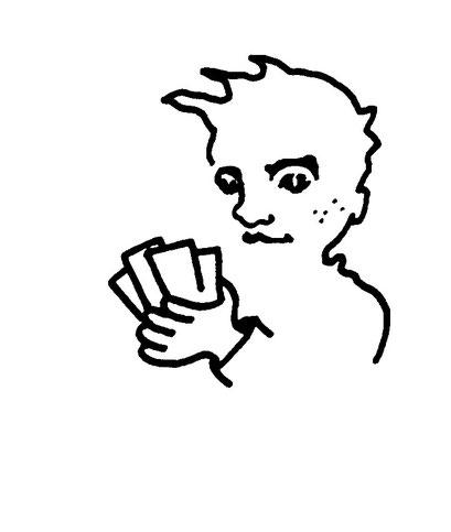poker, arbeitsbegleitende gedankenskizze, copyright chantal labinski 2013