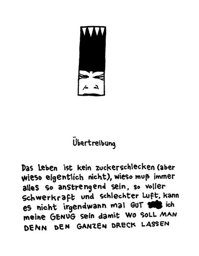 uebertreibung, arbeitsbegleitende gedankenskizze, copyright chantal labinski 2013