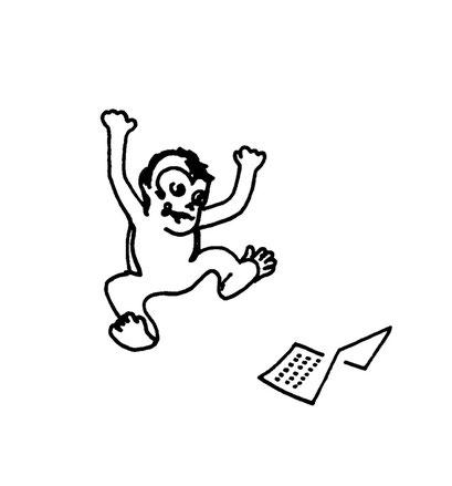 monkey at work, arbeitsbegleitende gedankenskizze, copyright chantal labinski 2013