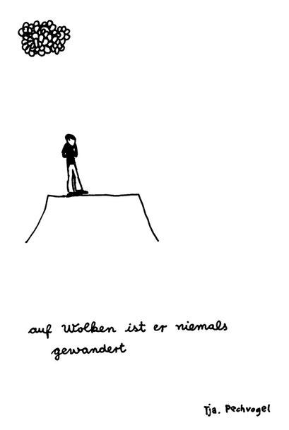pechvogel, arbeitsbegleitende gedankenskizze, copyright chantal labinski 2013