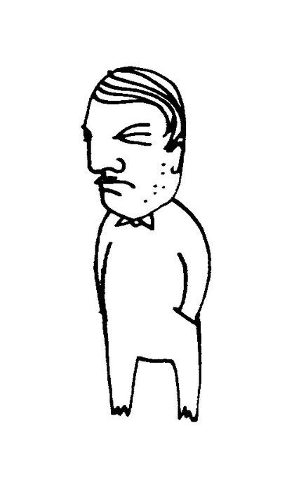 mann, arbeitsbegleitende gedankenskizze, copyright chantal labinski 2013