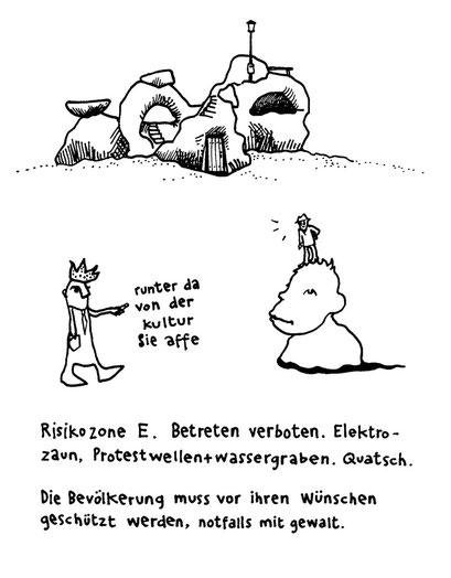 Risikozone, arbeitsbegleitende gedankenskizze, copyright chantal labinski 2013