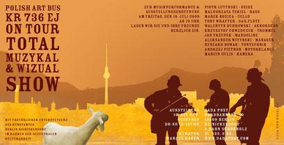Flyer für Marcel Hagers Total Muzykal Show mit Piotr Lutynski