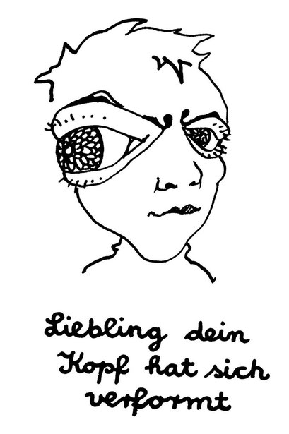 darling your head is deformed, arbeitsbegleitende gedankenskizze, copyright chantal labinski  2013