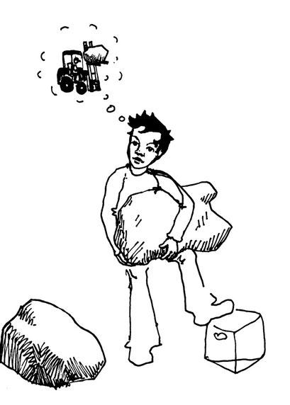 philosopher, arbeitsbegleitende gedankenskizze, copyright chantal labinski 2013