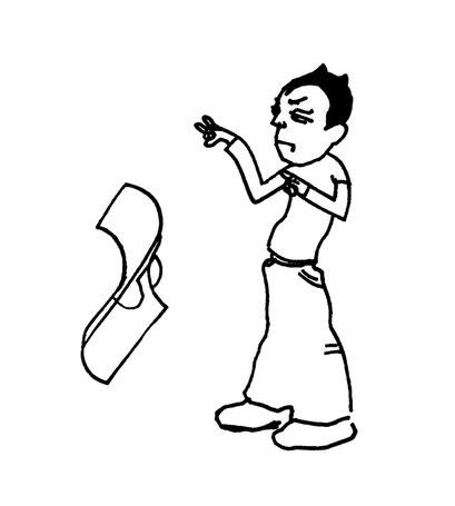 magician, arbeitsbegleitende gedankenskizze, copyright chantal labinski 2013