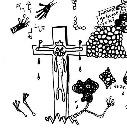 easterbunny, arbeitsbegleitende gedankenskizze, copyright chantal labinski  2013