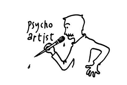 psychopath painter, arbeitsbegleitende gedankenskizze, copyright chantal labinski 2013