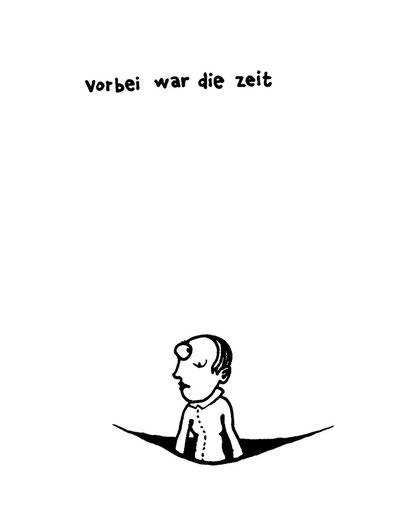 vorbei die zeit, arbeitsbegleitende gedankenskizze, copyright chantal labinski 2013